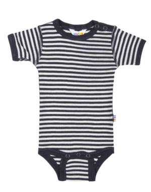 Navy stribet k/æ uld/silke body fra Joha